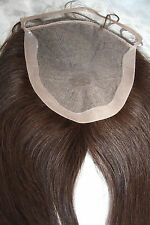 "7x7 Full Lace Silk Top Closure Human Hair Indian Remy Remi Partial Wig 14"" STOCK"