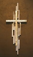 Wall Art Metal Cross Mid Century Modern Religious Statues Hand Made US Artist