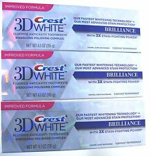 3 x Crest 3D WHITE BRILLIANCE Zahnweiss Zahnpasta Anticavity 116g