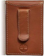 Timberland Hunter Flip Clip Brown Genuine Leather Credit Card Bifold Mens Wallet