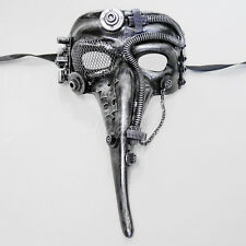 Steampunk Plague Doctor Theater Masquerade Mask for Men - Silver M39029
