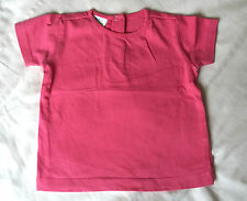 BABY GIRLS PINK T SHIRT 9 MONTHS SHORT SLEEVED DARK PINK ABSOLUTELY IMMACULATE