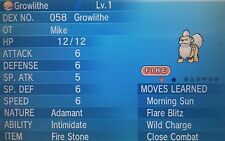 SHINY Growlithe - 6IV - Pentagon - *Intimidate* - Pokemon ORAS XY