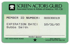 Bubba Smith Screen Actors Guild Card