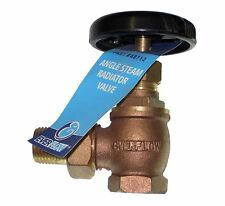 "1/2"" Hot-Water Steam Radiator Angle Valve Brass by Ever Flow"
