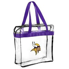 Minnesota Vikings CLEAR Messenger Tote Bag Purse - Meets Stadium Security Reqs