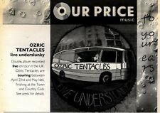 2/5/92Pgn28 OZRIC TENTACLES : LIVE UNDERSLUNKY ADVERT 7X10""