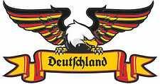 Auto Aufkleber Deutschland Adler mit alt deutscher Schrift Motorrad LKW Sticker
