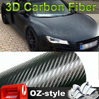 1.51x 3M 3D Black Carbon Fiber Vinyl Film Wrap Car Auto Protector Sticker Decals