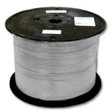 1000ft Flat Phone/Telephone Line Cord RJ11wire4c Cable/Cord spool{SILVER,SPINDLE