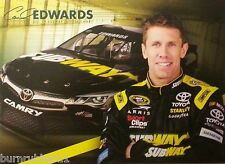 "2015 CARL EDWARDS ""SUBWAY TOYOTA CAMRY"" #19 NASCAR SPRINT CUP POSTCARD"