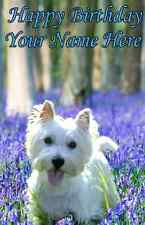 Westie A5 Personalised Greeting Card Happy Birthday Any Age, Name  PIDW1