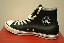 BNIB CONVERSE LEATHER HI-TOP BOOTS/TRAINERS,BLACK/EGRET/DOLPHIN GREY SIZE 7-11