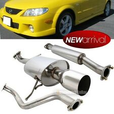 """For: Protege 5 4"""" Tip Stainless Steel Full Catback Exhaust Muffler System"""