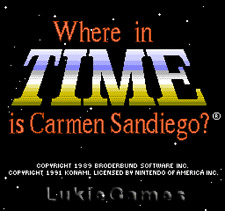 Where In Time Is Carmen Sandiego - NES Nintendo Game