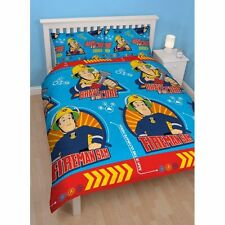 Fireman Sam 'Brave' Rotary Double Bed Duvet Quilt Cover Set Brand New Gift