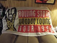 AWESOME RARE VINTAGE 1995 ROLLING STONES CONCERT TOUR VOODOO LOUNGE BANNER TOWEL
