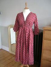 Rara Vintage Ayesha Davar Maxi Vestido de algodón indio 1970s Festival Hippy Boho