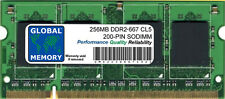 256MB DDR2 667MHz PC2-5300 200 BROCHES MÉMOIRE SODIMM RAM
