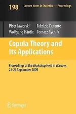 Copula Theory and Its Applications: Proceedings , , Excellent