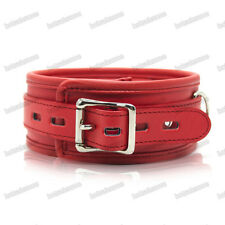 Quality Red Soft three layers PU Leather Neck Collar  + Lead Restraint Bondage