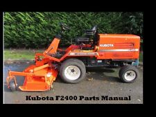 KUBOTA F2400 F 2400 PARTS MANUAL - 240pg for Mower Tractor Service and Repair