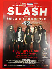 SLASH MYLES KENNEDY THE CONSPIRATORS SAXON - LIVE IN KRAKOW - Polish promo FLYER