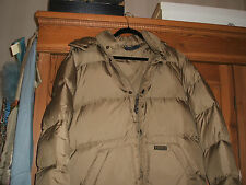 SALE UNISEX RALPH LAUREN POLO FEATHER DOWN FILLED HOODED PUFFA JACKET L OLIVE