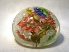 MURANO glass paperweight con laticino Scramble