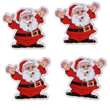 50pcs Christmas Cheer Santa Claus Wood Buttons Sewing Charms Scrapbooking Lots C