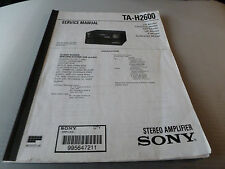 SONY TA-H2600 STEREO AMPLIFIER  Service Manual