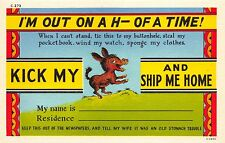 KICK MY ASS AND SHIP ME HOME LOT OF 2 COMIC POSTCARDS 1940s