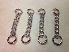 MIche SILVER CHAIN SET - NEW!  For Use With Straps Handles Carabineers