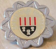 SHEFFIELD UNITED Vintage 70s 80s insert type Badge Brooch pin Chrome 33mm x 33mm
