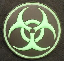 3D PVC GITD GLOW IN THE DARK JTG H3 RADIOACTIVE ZOMBIE FALLOUT VELCRO PATCH