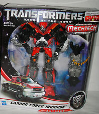 Transformers Dark Of The Moon Cannon Force Red Ironhide Mechtech Voyager Figure