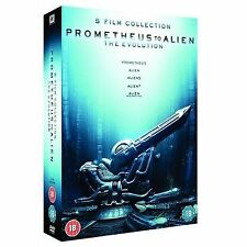 PROMETHEUS TO ALIEN COMPLETE COLLECTION DVD 5 MOVIE BOX SET PART 1 2 3 4 ALIENS