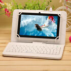 "iRulu White Tablet PC New 7"" Android 4.4 Quad Core 8GB Dual Cam WIFI w/ Keyboard"