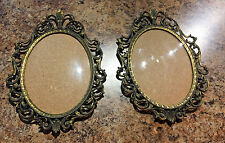 Vintage Antique Metal Picture Frames With Bubble Glass Made in Italy