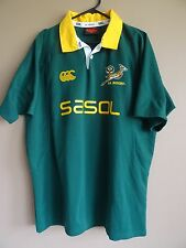 South Africa Rugby Union Jersey Canterbury Size XL Springboks Sasol
