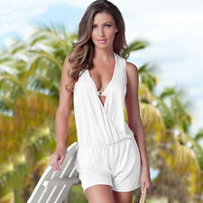 New Sexy Women Summer V Neck Slim Dress Playsuit Bodysuit Romper Party Beachwear