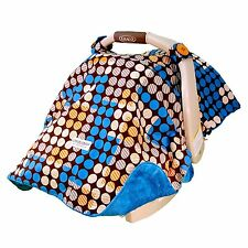 """CARSEAT CANOPY BABY CAR SEAT CANOPY COVER BLANKET COTTON BRAND NEW """" AIDEN"""