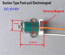 DC 5V-6V Push Pull Type Solenoid Electromagnet DC Micro Suction Rod Solenoid 6mm