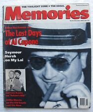 "1989 Oct/Nov ""Memories"" The Magazine of Then and Now, 96 pages, Al Capone"