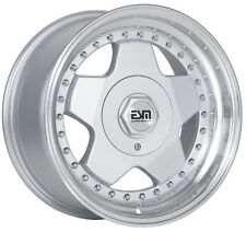 "SILVER WITH RIVETS 16x8 16x9 16"" Wheels 5x100 ESM 009R SUBARU"