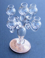 1:12 Hand Made Glass Candelabra For 5 Candles Dolls House Miniature Accessory GO