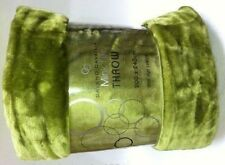 Lime Green Mink Throw Luxury Rich Soft Sofa Bed Runner Fleece Blanket XL 200x240