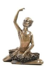 "5"" Ballerina Statue Figurine Figure Decor Dancing Dancer Warming Up Girl Ballet"