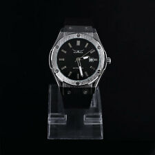 Fashion Silver Jaragar Automatic Men's Stainless Steel Mechanical Watch New