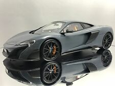 Top Speed / TSM McLaren 675LT Chicane Grey Sealed Resin Car Model 1/18